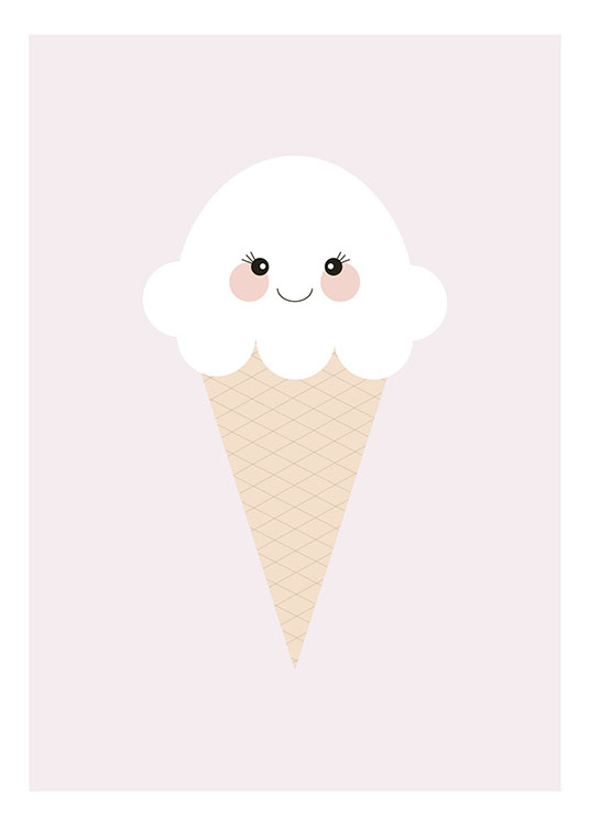 Ice Cream Pink, Poster / Kids wall art at Desenio AB (8438)