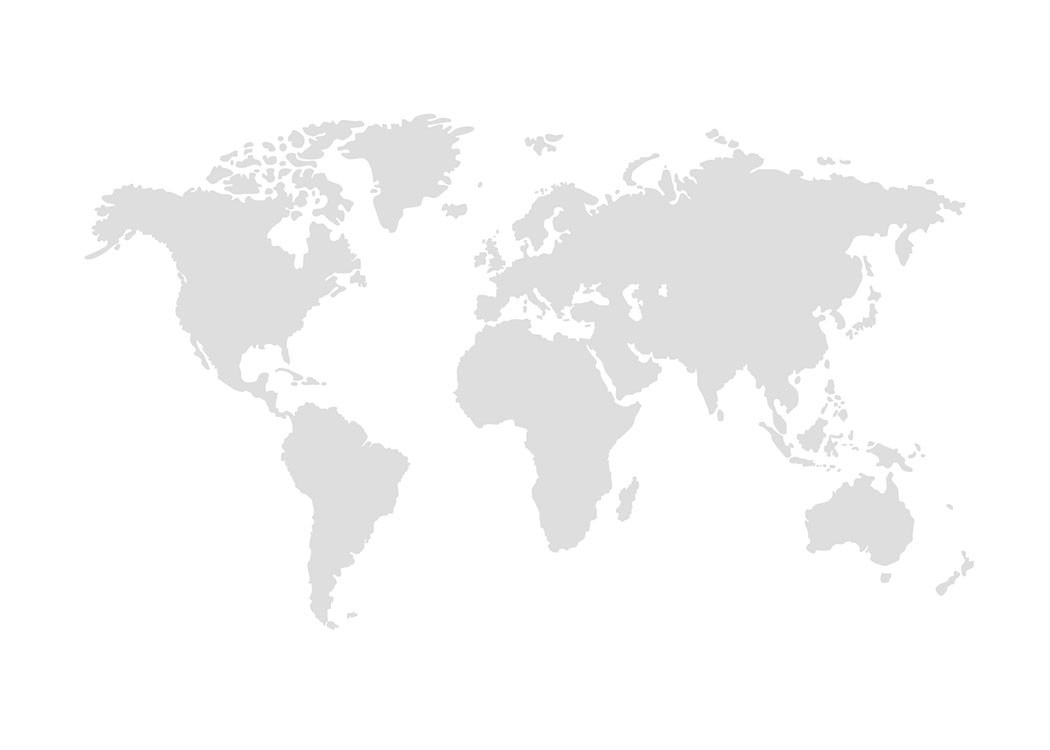 world map grey poster