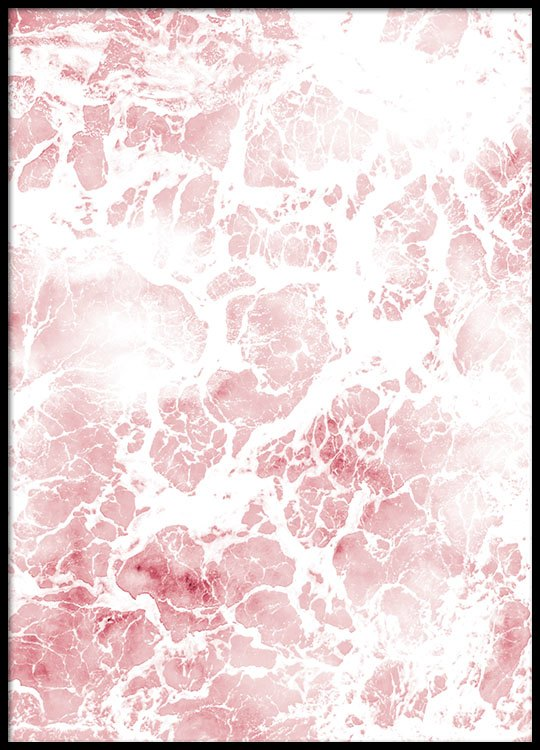 Close Up Photo Of A Foamy Pink Sea From Desenio