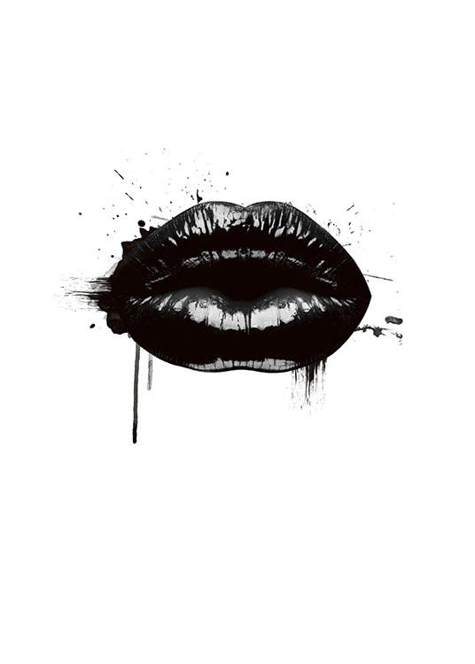 fashion lips poster. Black Bedroom Furniture Sets. Home Design Ideas