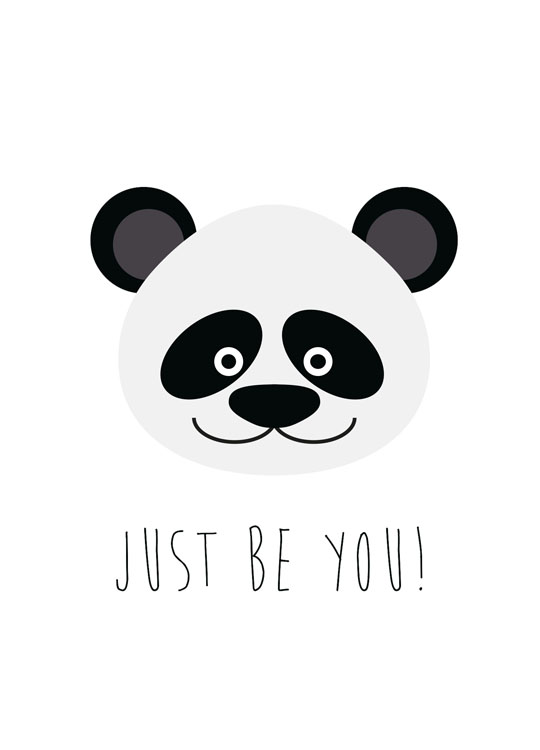 Just Be You, Poster / Kids wall art at Desenio AB (8510)