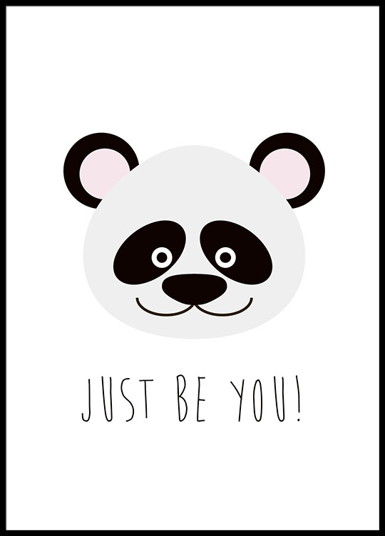 just be you pink poster