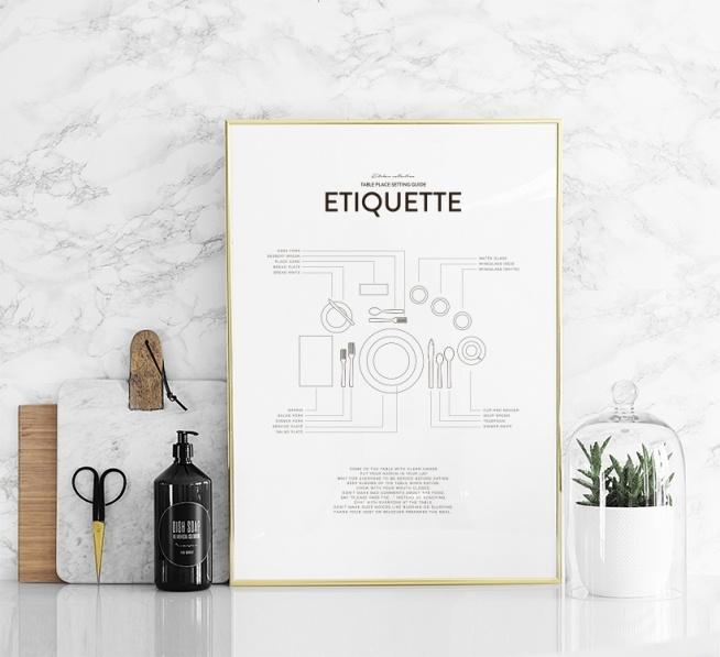 Etiquette, Posters