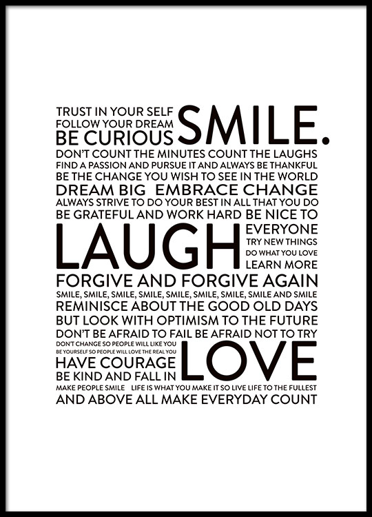 Smile Laugh Love Posters Adorable Smile Laugh Love Quotes
