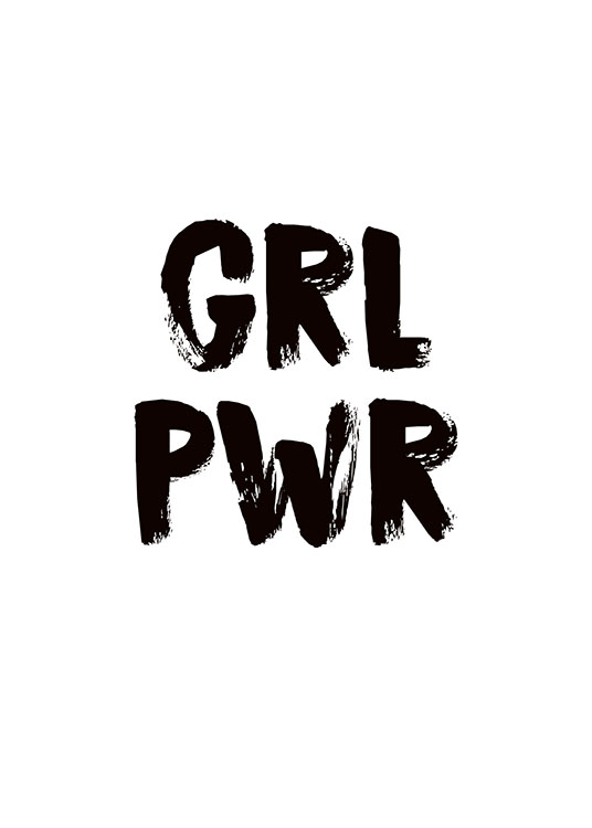 Girl Power Poster / Text posters at Desenio AB (8835)