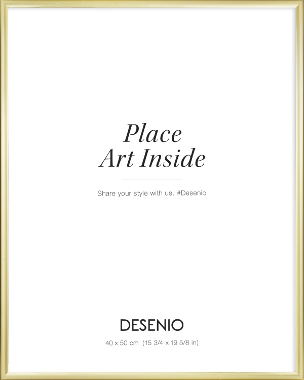 Picture frame Gold 40x50   Buy frames online   Desenio