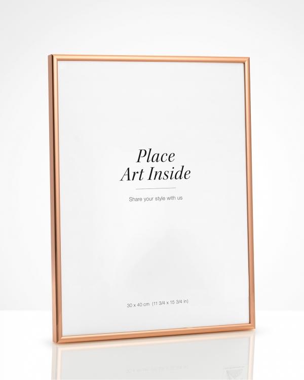 Copper picture frame 30x40, buy frames online | Desenio