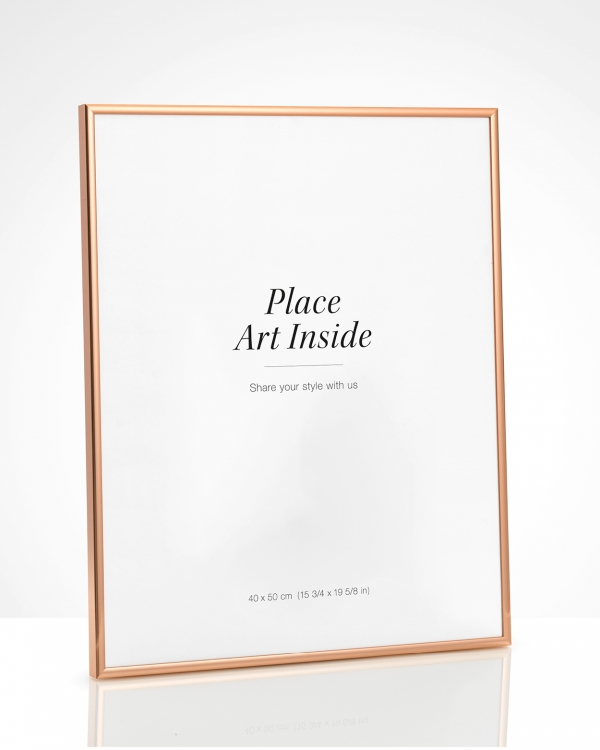 - Copper metal frame for prints in 40x50