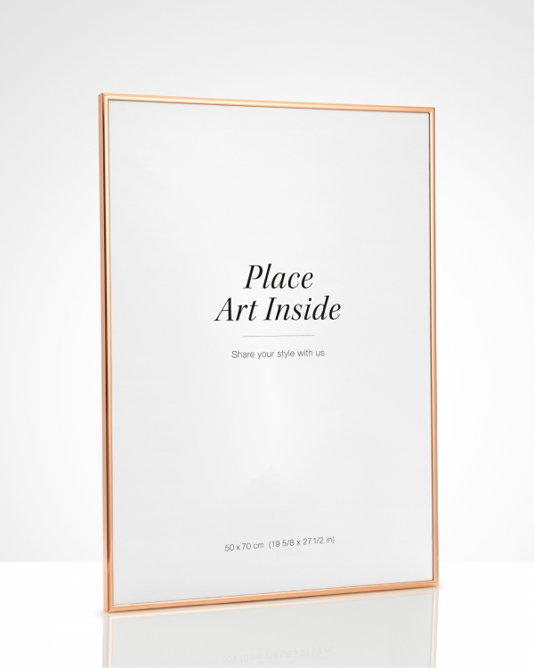 - Copper metal frame for prints in 50x70