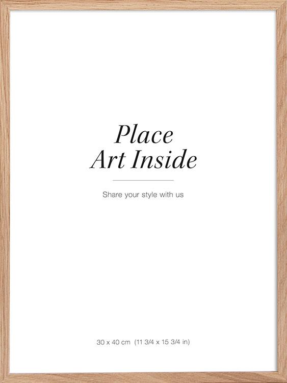 Oak frame for posters measuring 30 x 40 cm