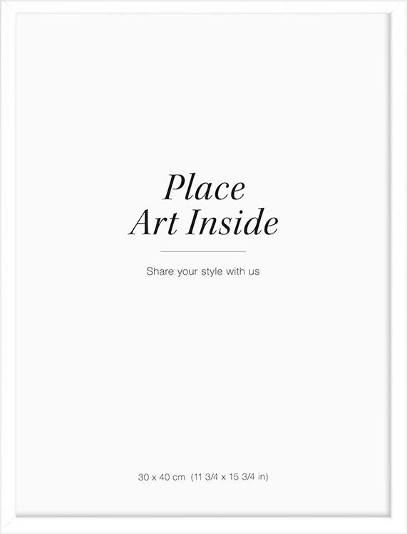 white picture frame measuring 30 x 40 cm. Black Bedroom Furniture Sets. Home Design Ideas
