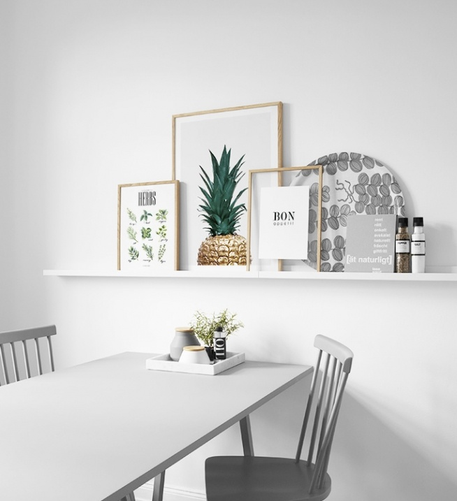 Art Prints For Kitchen Wall: Picture Wall For The Kitchen. Stylish Posters And Art