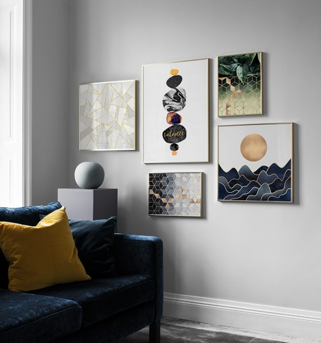 Picture Wall Inspiration For Living Room | Posters | Desenio Part 91