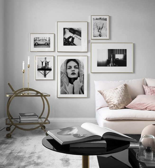 living room posters.  Picture wall Inspiration for living room Posters Desenio
