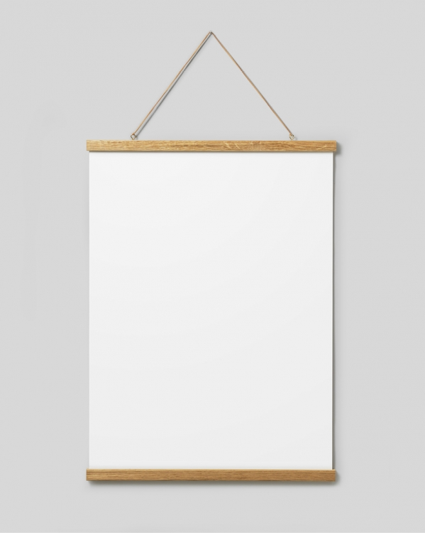 Poster hanger oak 51 cm, magnet fastener