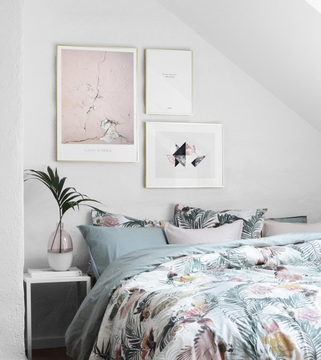 Bedroom Inspiration | Posters And Art Prints In Picture Walls And ...