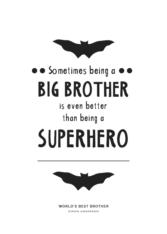 Big Brother Personal Poster / Personalised prints at Desenio AB (pp0003)