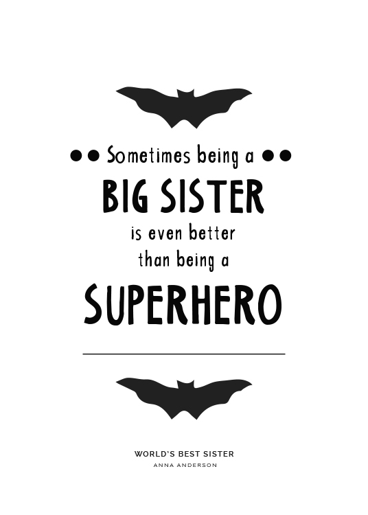 Big Sister Personal Poster / Personalised prints at Desenio AB (pp0004)