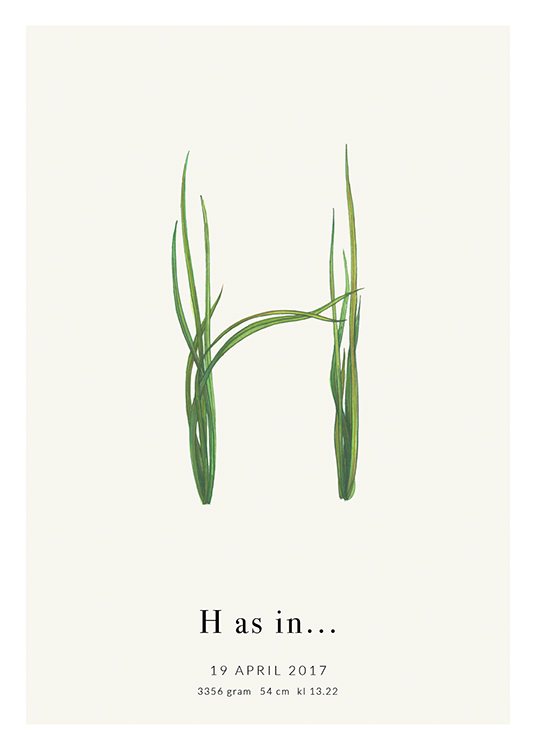 – Green grass forming the letter H with text at the bottom