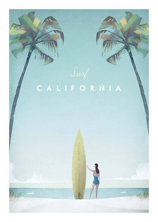 California Travel Poster / Retro & vintage at Desenio AB (pre0008)