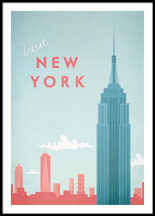 New York Travel Poster