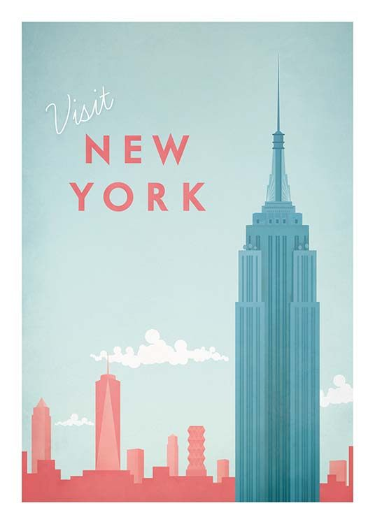New York Travel Poster / Retro & vintage at Desenio AB (pre0011)