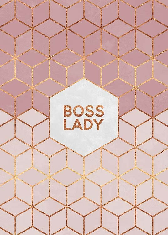 Boss Lady Poster / Text posters at Desenio AB (pre0015)