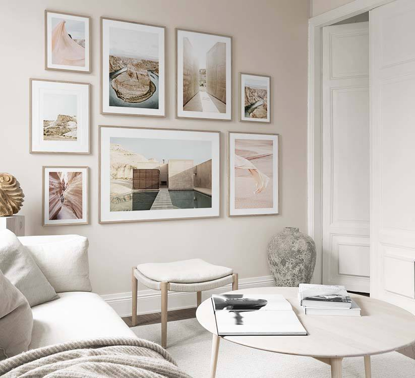 Picture Wall Inspiration | Stylish Gallery Walls At Desenio ...